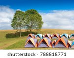 camping point at morning | Shutterstock . vector #788818771