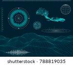 futuristic hud interface... | Shutterstock .eps vector #788819035