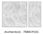 Set Template For Cutting. Palm...
