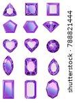 set of gems  diamonds of ultra... | Shutterstock .eps vector #788821444