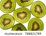 Small photo of Fresh kiwi fruit slice actinide