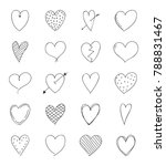 collection of hand drawn heart... | Shutterstock .eps vector #788831467