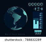 world map with different...   Shutterstock .eps vector #788832289