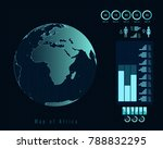 world map with different...   Shutterstock .eps vector #788832295