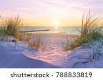 sunset at the baltic sea beach | Shutterstock . vector #788833819