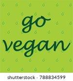 go vegan  vegan symbol  vector
