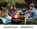 teenage friends sit round a... | Shutterstock . vector #788838361