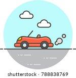 transportation road  multicolor ... | Shutterstock .eps vector #788838769