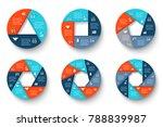 vector infographic design... | Shutterstock .eps vector #788839987