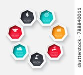 vector heptagon for infographic.... | Shutterstock .eps vector #788840011