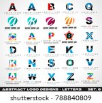 collection of creative logo... | Shutterstock .eps vector #788840809