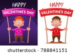 happy valentines day....   Shutterstock .eps vector #788841151