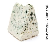 blue cheese on a white... | Shutterstock . vector #788845201