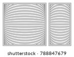 set template for cutting. line...   Shutterstock .eps vector #788847679