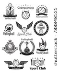 volleyball vector icons set of... | Shutterstock .eps vector #788848525