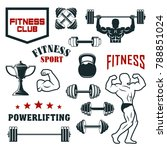fitness sport club  gym and...   Shutterstock .eps vector #788851024