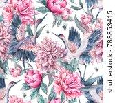 watercolor nature seamless... | Shutterstock . vector #788853415
