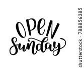 open sunday handlettering... | Shutterstock .eps vector #788856385