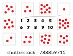 maths game with red dots for... | Shutterstock .eps vector #788859715