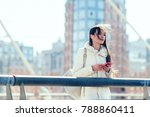 beautiful woman  people with... | Shutterstock . vector #788860411