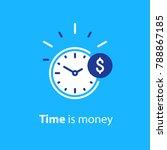 time is money concept  clock... | Shutterstock .eps vector #788867185