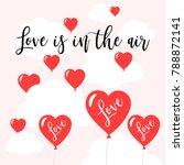 happy valentines day banner ... | Shutterstock .eps vector #788872141
