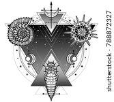 mystical symbols of origin of... | Shutterstock .eps vector #788872327