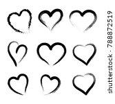 hand drawn hearts. design...   Shutterstock .eps vector #788872519