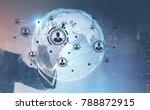 hand of a businessman wearing a ...   Shutterstock . vector #788872915