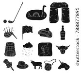 country scotland black icons in ... | Shutterstock .eps vector #788877895