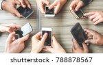 group of friends having fun... | Shutterstock . vector #788878567