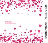 pink and red hearts on a white... | Shutterstock .eps vector #788879635