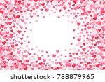 vector pink   red valentines... | Shutterstock .eps vector #788879965