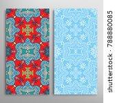 vertical seamless patterns set  ... | Shutterstock .eps vector #788880085