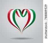 hungarian flag heart shaped... | Shutterstock . vector #788889529
