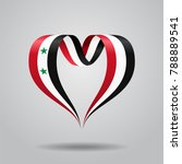 syrian flag heart shaped wavy... | Shutterstock . vector #788889541