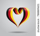 german flag heart shaped wavy...   Shutterstock . vector #788889601