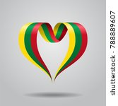 lithuanian flag heart shaped... | Shutterstock . vector #788889607