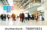blurred people in a modern hall | Shutterstock . vector #788893831
