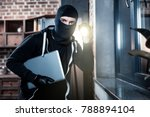 stealing laptop. angry...   Shutterstock . vector #788894104