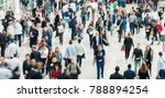 blurred people in a modern hall | Shutterstock . vector #788894254