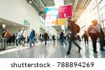 blurred people in a modern hall | Shutterstock . vector #788894269