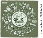 vector hand drawn set of sport... | Shutterstock .eps vector #788896369