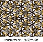 graphic flower pattern vector... | Shutterstock .eps vector #788896885