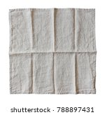 linen tablecloth isolated on... | Shutterstock . vector #788897431