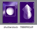 set of abstract backgrounds... | Shutterstock .eps vector #788898169