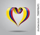 colombian flag heart shaped... | Shutterstock . vector #788898691