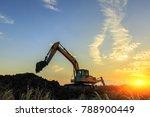 excavator working on... | Shutterstock . vector #788900449