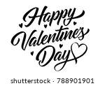 happy valentines day inscription | Shutterstock .eps vector #788901901
