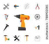 repair icon set | Shutterstock .eps vector #788902081